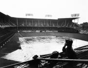 Brooklyn Dodgers Stadium Framed Prints - EBBETS FIELD, c1950 Framed Print by Granger