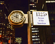 Clockmaker Photos - Ebel Street clock in NYC by Paul Ward