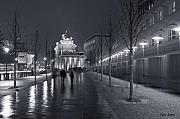 Tor Photo Posters - Ebertstrasse and the Brandenburg Gate Poster by Pierre Logwin