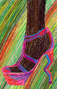 Kenal Louis Framed Prints - Ebony In High Heels Framed Print by Kenal Louis
