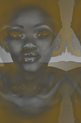 African-american Digital Art - Ebony by Irina  March