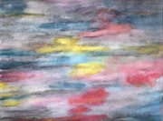 Watercolor Pastels Originals - Ebony Rainbow by Mary Zimmerman