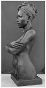 Metal Art Sculpture Originals - Ebony Venus by Curtis James