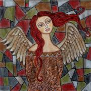 Angel Art Pastels Prints - Ecanus Print by Rain Ririn