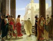 Spectators Prints - Ecce Homo Print by Antonio Ciseri
