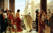 Man Painting Prints - Ecce Homo Print by Antonio Ciseri