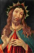 Christ Painting Posters - Ecce Homo or The Redeemer Poster by Botticelli