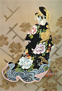 Feminine Photo Framed Prints - Echigo Dojouji Framed Print by Haruyo Morita