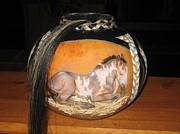 Animals Pyrography - Echo by Barbara  Prestridge
