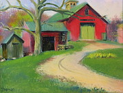 Outbuildings Painting Framed Prints - Echo Farm Framed Print by Sid Solomon