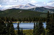 Mount Evans Framed Prints - Echo Lake Colorado Framed Print by Marilyn Hunt