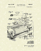 Computer Drawings Prints - Eckdahl Computer 1960 Patent Art Print by Prior Art Design