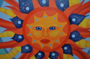 Sun Rays Paintings - Eclipse CU2 by Jill Kelsey