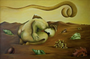 Surrealistic Paintings - Eclipse de dos Soles by Aixa  Salazar
