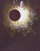 Solar Eclipse Painting Framed Prints - Eclipse One Framed Print by Malissa Longo