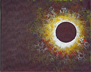 Solar Eclipse Painting Posters - Eclipse Three Poster by Malissa Longo