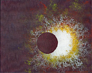 Solar Eclipse Painting Posters - Eclipse Two Poster by Malissa Longo