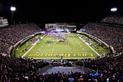 Night Game Framed Prints - ECU  Dowdy-Ficklen Stadium  Framed Print by Rob Goldberg