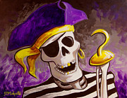 Pirates Painting Originals - ECU Pirate by Tommy Midyette