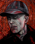Serial Killer Painting Prints - Ed Gein Print by Justin Coffman
