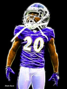 Nfl Prints - Ed Reed Print by Stephen Younts
