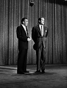 Suit And Tie Framed Prints - Ed Sullivan, And Bob Hope, Circa 1956 Framed Print by Everett