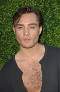 Cbs Posters - Ed Westwick At Arrivals For Cbs, The Cw Poster by Everett