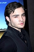 Ed Prints - Ed Westwick At Arrivals For Is Anybody Print by Everett