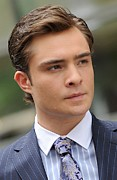 Ed Prints - Ed Westwick On Location For Gossip Girl Print by Everett