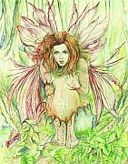 Fantasy Creature Metal Prints - Edana The Fairy Collection Metal Print by Morgan Fitzsimons