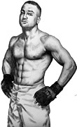 Sports Figure Drawings Posters - Eddie Alvarez Poster by Audrey Snead