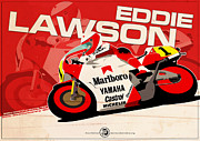 Evan DeCiren Art - Eddie Lawson - 500cc 1987 by Evan DeCiren
