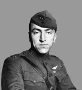 Army Air Service Framed Prints - Eddie Rickenbacker Framed Print by War Is Hell Store