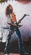 Van Halen Acrylic Prints - Eddie Van Halen Acrylic Print by Rick Yanke