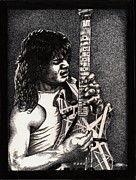 Guitar Hero Prints - Eddie VanHalen Print by Kathleen Kelly Thompson