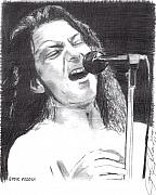 Singer Drawings - Eddie Vedder by Jason Kasper