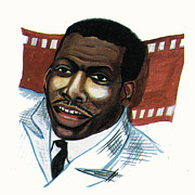 Live Art Drawings Framed Prints - Eddy Murphy Framed Print by Emmanuel Baliyanga