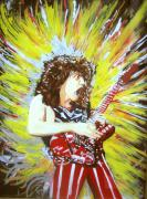 Rock Stars Mixed Media Posters - Eddy Van Halen - Eruption Poster by Ferril Nawir