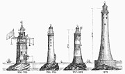 1696 Posters - Eddystone Lighthouse Poster by Granger
