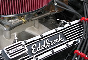 Original Photography Posters - Edelbrock Engine Poster by Colleen Kammerer