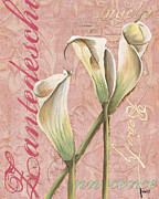 Florals Paintings - Eden Blush Lilies 2 by Debbie DeWitt