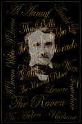 Poe Framed Prints - Edgar Allan Poe 1 Framed Print by Andrew Fare