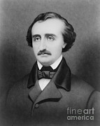 American Story Art Framed Prints - Edgar Allan Poe, American Author Framed Print by Photo Researchers