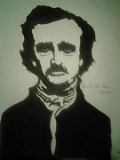 Edgar Allan Poe Drawings - Edgar Allan Poe by Mark Norman II
