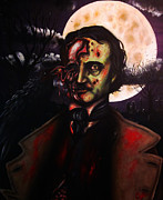 Edgar Allan Poe Paintings - Edgar Allan Poe Zombie by Justin Coffman