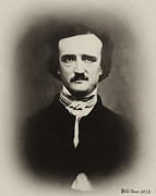 Edgar Allen Poe Print by Bill Cannon