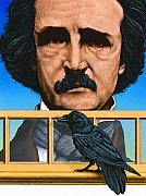 Poe Framed Prints - Edgar Allen Poe Framed Print by John D Benson