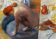 Bathing Art - Edgar Degas: The Tub, 1886 by Granger