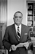 Fbi Posters - Edgar J. Hoover Director Of The Fbi Poster by Everett
