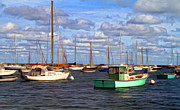 Martha Prints - Edgartown Harbor Print by Gina Cormier
